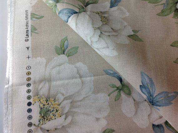 Laura Ashley Wisley Floral Fabric on Etsy, 17,71€