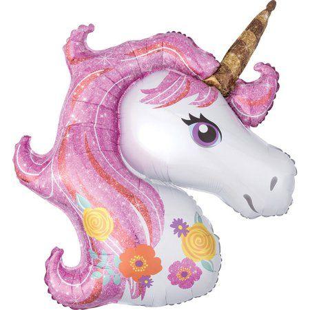 "Magical Unicorn Super Shape Foil Balloon 33"""