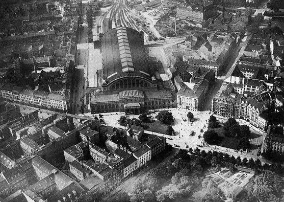 Luftaufnahme von 1919 Anhalter Bahnhof