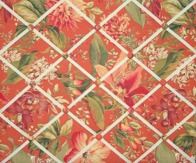 I love the tropical pattern of this memory board!