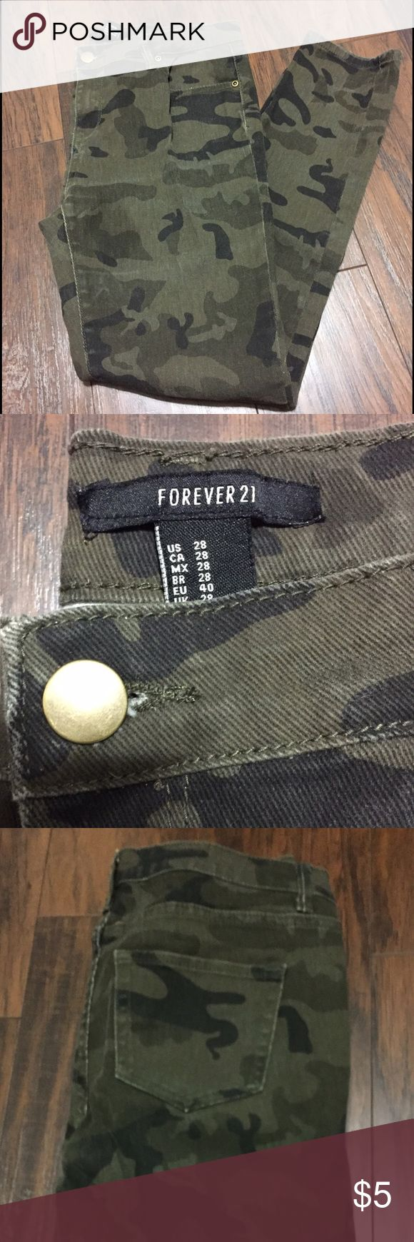 Forever 21 Camouflage Skinny Jeans Used stretch camouflage skinny jeans. Forever 21 Jeans Skinny