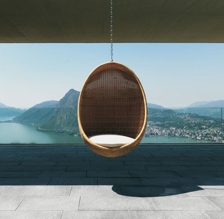 Hanging Egg Chair by Nanna and Jorgen Ditzel