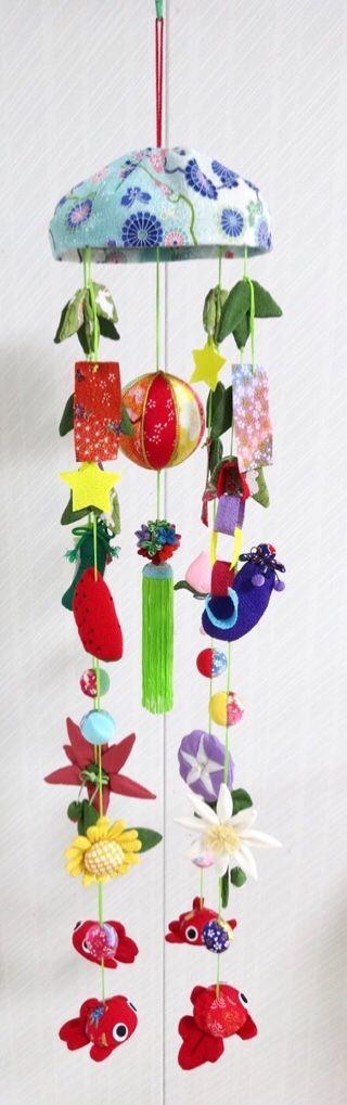 Chirimen hanging decoration Tanabata-Japanese Star festival