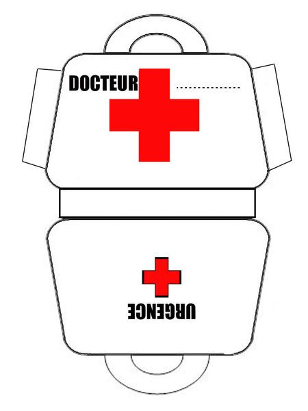 De m dicos y hospital varios imprimibles 2 pinterest for Doctor bag craft template