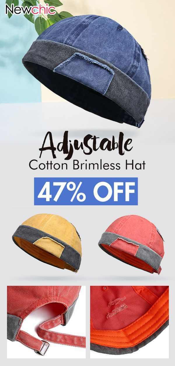 95636677 Unisex Adjustable Solid Cotton Brimless Hat Retro Vogue Crimping Bucket Cap