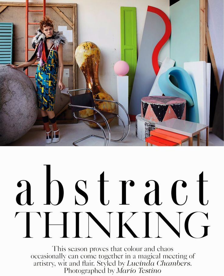 Abstract Thinking: #FrejaBehaErichsen by #MarioTestino for #VogueUK September 2014