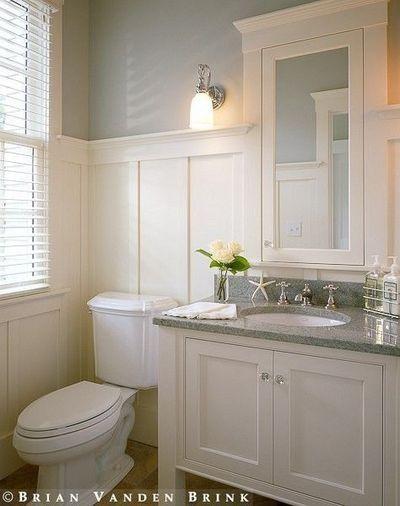 wainscoting ideas | Bathroom Wainscoting / bath ideas - Juxtapost