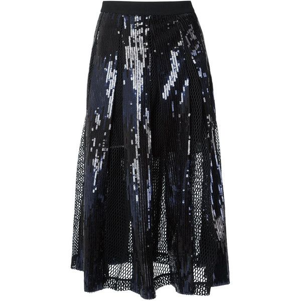 Giuliana Romanno sequin midi skirt ($1,070) ❤ liked on Polyvore featuring skirts, black, sequin skirts, calf length skirts, midi skirt, sequin midi skirts and mid calf skirts