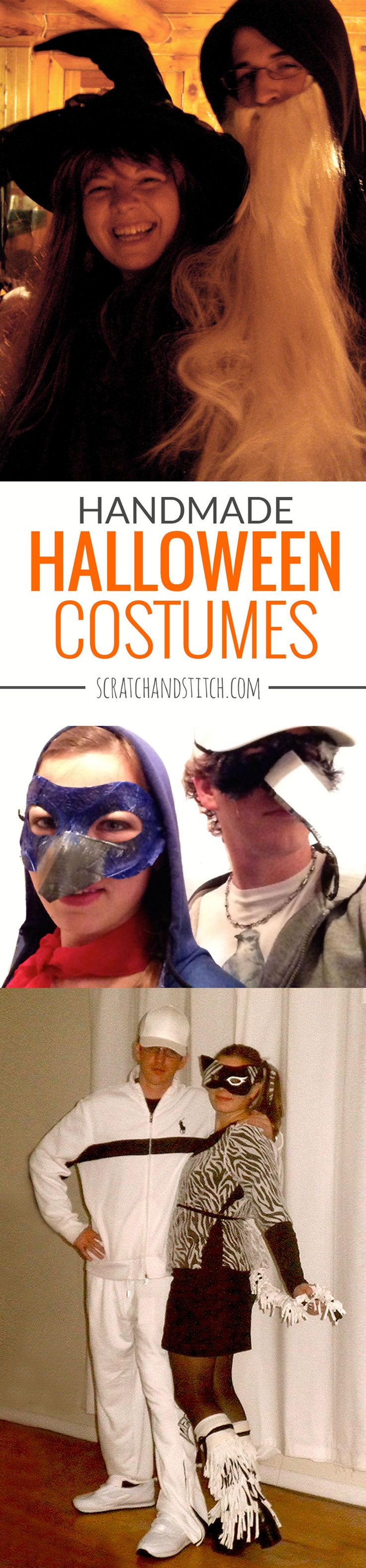 Handmade Halloween Costumes for couples. by scratchandstitch.com