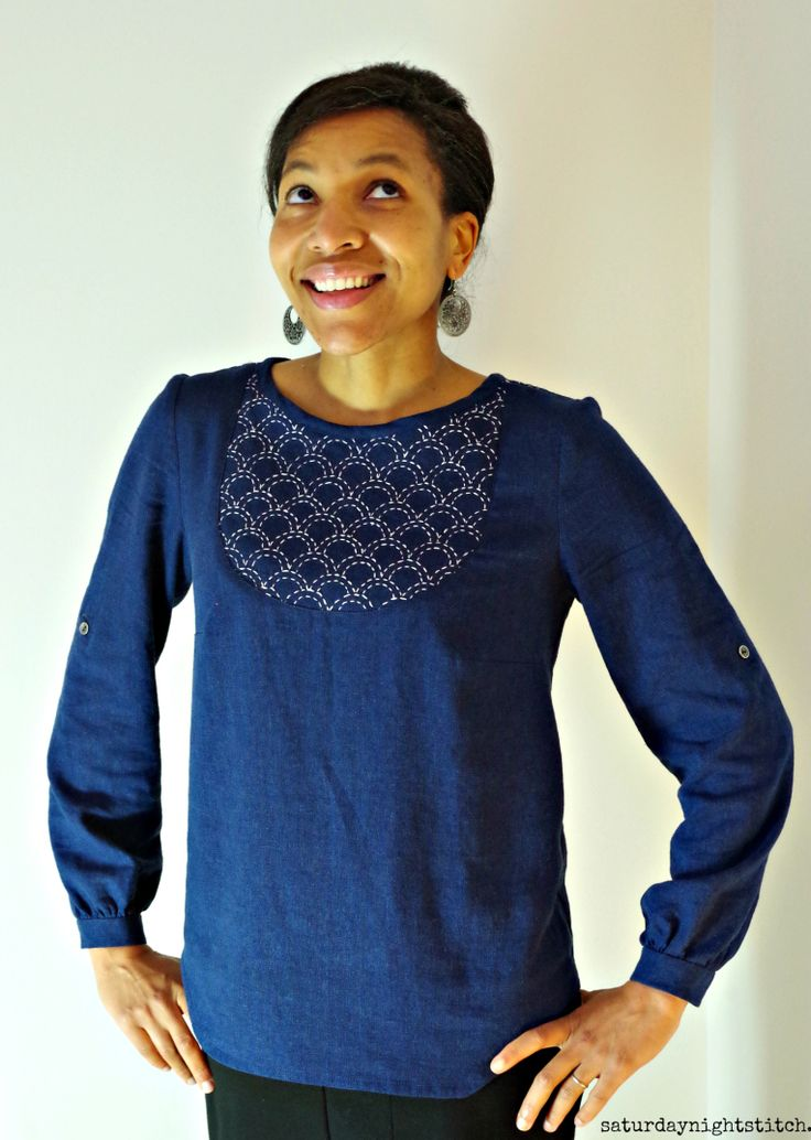 Carme blouse w/hand embroidery