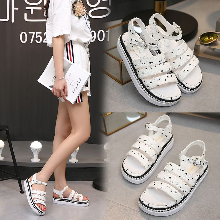 """✨ ✨ ✨ $40.50,  Women's Pearls Flat With Ankle Strap Sandals Use code """"LADYSTO"""" to get 15% OFF & one FREE chic socks. from @ladystoofficial.... ✨ ✨ ✨ Chaco Boots Slip On Trench Coat Skinny Jeans Inspiration Gucci Shoes Comfortable For Wide Feet Bean Boots Tummy Clothing Online Autumn Belly Felted Wool Colour Pea Coats Vector Style Justin Boots Ugg Boots Frye Cargo Pants H&m Winter Jackets Sperrys Sperry Shoes Drops Design Oxford Shoes Wide Jogger Pants ✨ ✨ ✨ @ladystoofficial #ladysto"""