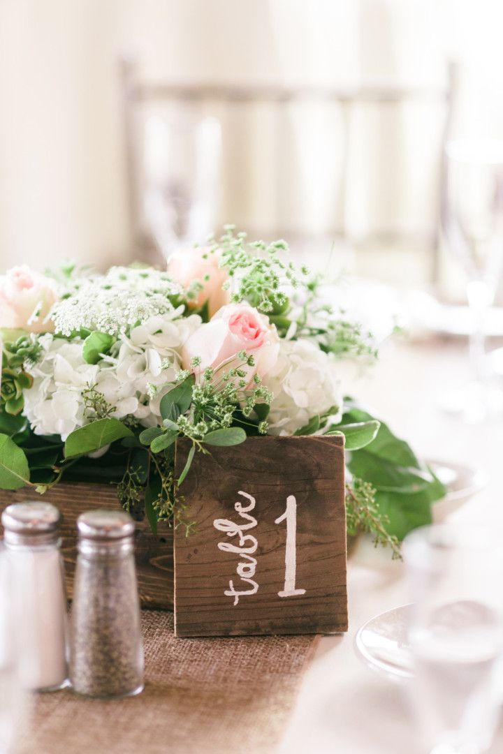 Pretty And Bright California Wedding Rustic CentrepiecesWedding Table NumbersRustic