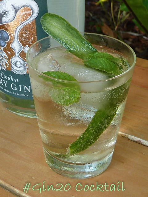 The refreshing #Gin20 Cocktail for the #G20 in Brisbane * Get the recipe at TIFFIN - bite sized food adventures -