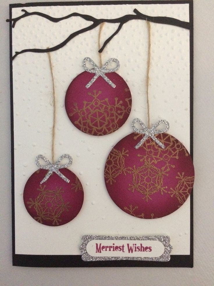 Pinterest inspired  #berryburst #Christmascards