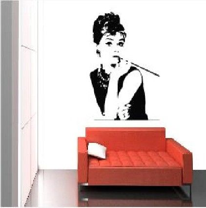 Audrey Hepburn Breakfast at Tiffany's Wall Decal Sticker FREE UK DELIVERY by uposters