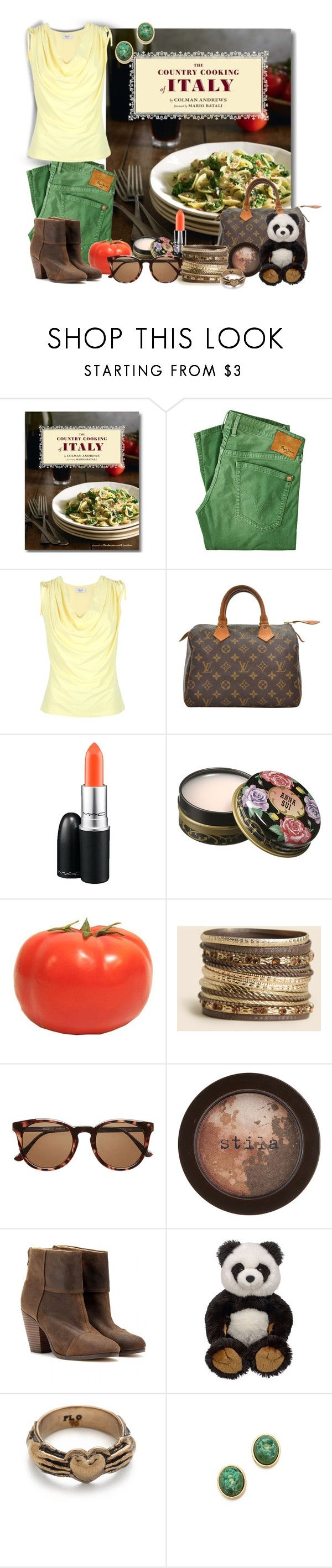 """Ethnic Food - Italy"" by mary-gereis ❤ liked on Polyvore featuring The Bread Project, Pepe Jeans London, Blugirl, Louis Vuitton, MAC Cosmetics, Anna Sui, Witchery, Stila, rag & bone and Pamela Love"