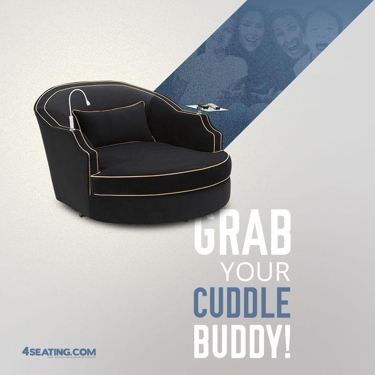 Cozy Hometheater: Cavallo Ballad Swivel Cuddle Couch 7 Materials, 95+ Colors