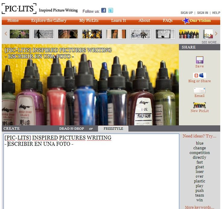 http://www.piclits.com/compose_dragdrop.aspx Piclits: escribir sobre una foto online, como http://www.piclits.com/viewpoem.aspx?PoemId=241598