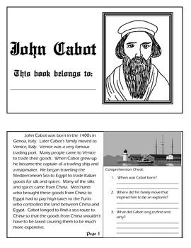 explorer book series john cabot