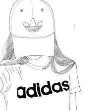 Bildergebnis für tumblr girl schwarz weiß gezeichnet adidas –  – #hintergrundbilder