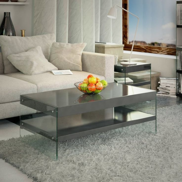 Emporium Home Waverley Grey Gloss Coffee Table From Interiors Uk