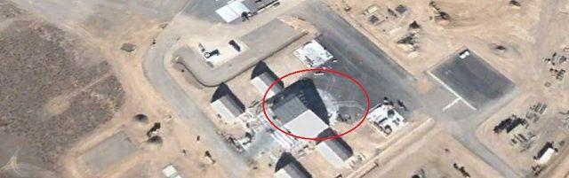 """Google Maps toont cirkelvormige UFO in Area 51"" - http://www.ninefornews.nl/google-maps-toont-cirkelvormige-ufo-in-area-51/"