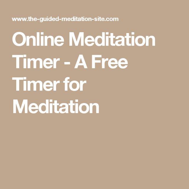 Online Meditation Timer - A Free Timer for Meditation