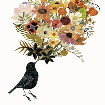 Flowers bird
