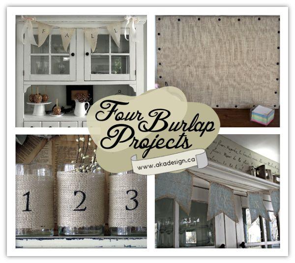 Four burlap projects