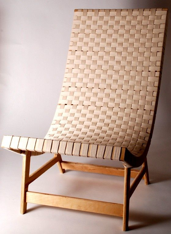 Birch Plywood Lounge Chair by MichaelArras on Etsy, $400.00