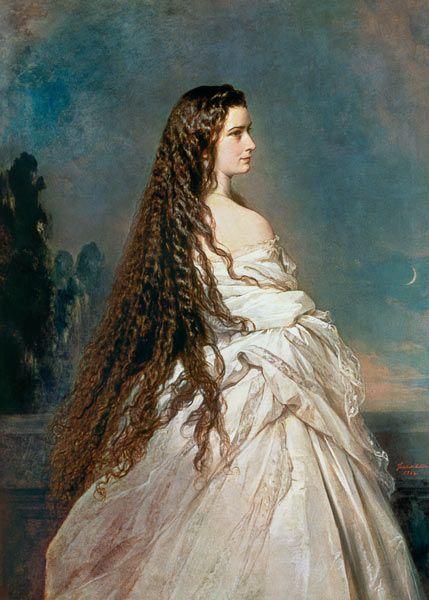 Franz Xaver Winterhalter - Portrait of Elizabeth of Bavaria