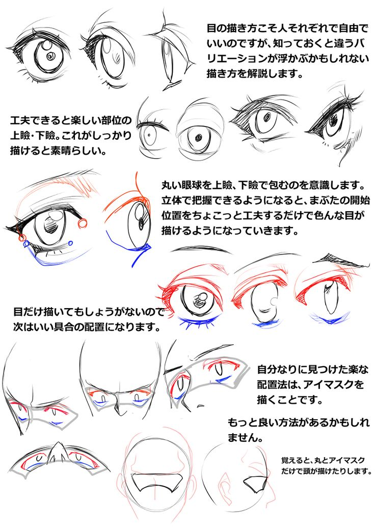 胸の描き方と表情、髪型の描き方講座 [8]