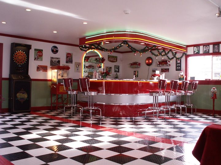 Americans in the 1950s loved going to diners with friends for 50s diner style kitchen