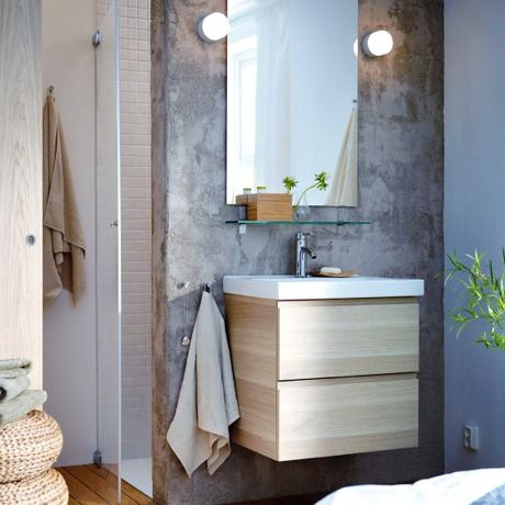 GODMORGON/ODENSVIK Sink cabinet with 2 drawers - white stained oak effect - IKEA