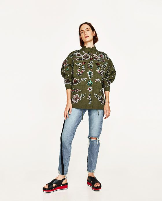ZARA - WOMAN - LIMITED EDITION EMBROIDERED PARKA