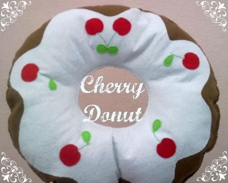 pilllow cherry donut