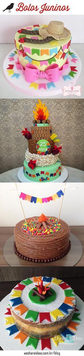10 bolos juninos super criativos para decorar a mesa de doces na festa de são joão.