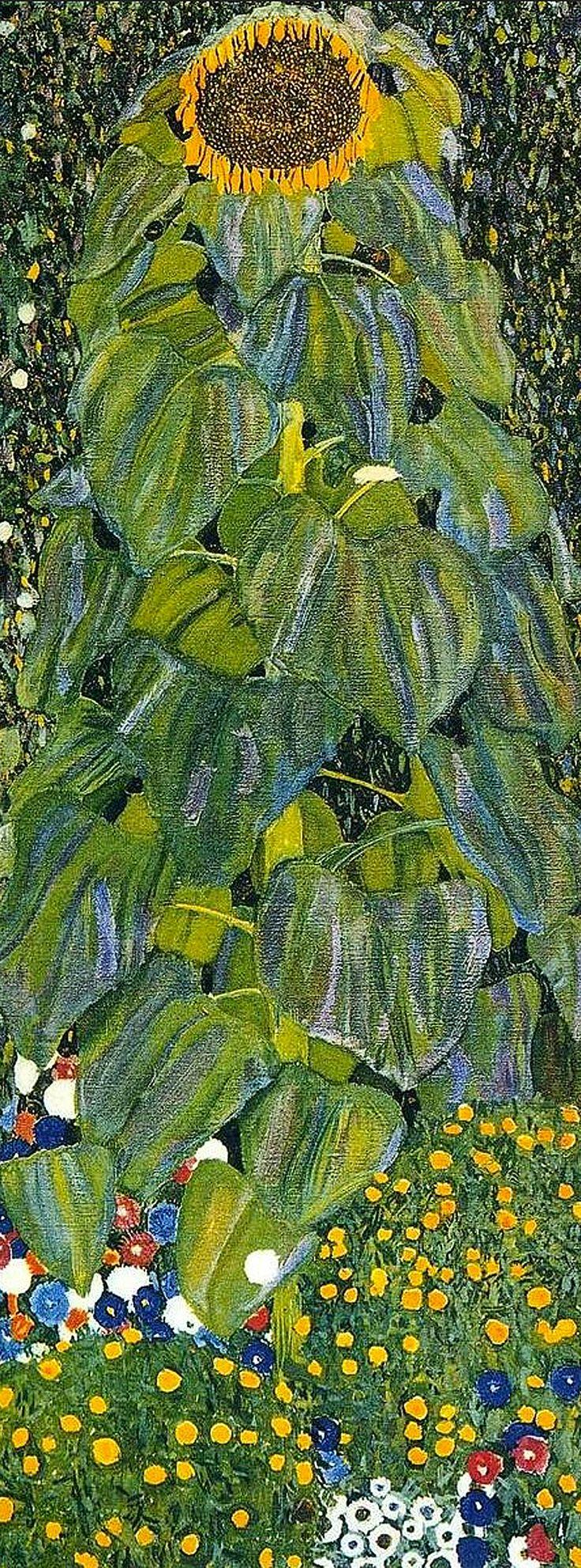 Gustav Klimt 'Sunflower' detail