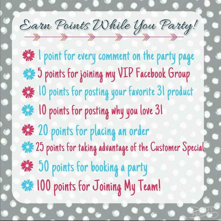 Earn points while you party\  mythirtyone.com/moorethanabag