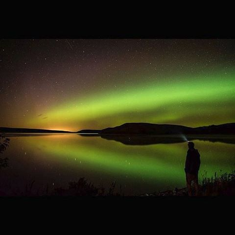 @matt.snell shared this fantastic shot with #mycanadiansky a couple of weeks back of the #auroraborealis over Elkwater Lake #alberta Thanks for posting Matt