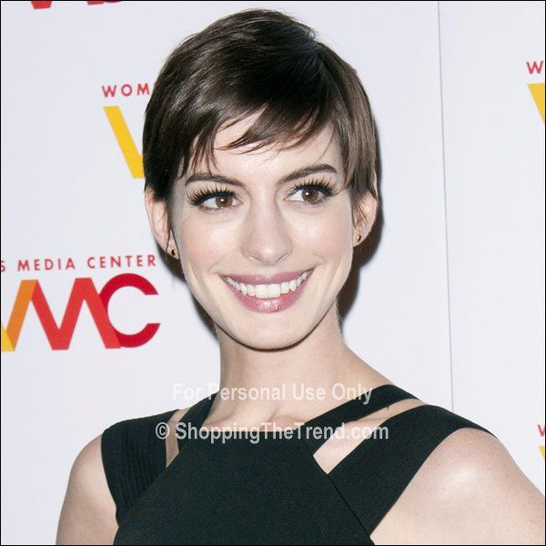 Anne Hathaway hair & makeup at 2012 Women's Media Awards