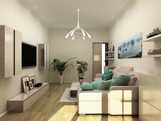 Гостиная – подходящее место, как для отдыха, так и для работы. Удобная рабочая зона у окна настраивает на рабочий лад, а кожаный угловой диван-кровать послужит прекрасным спальным местом в ночное время.