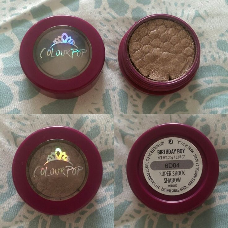 SWAPPED (Erica Eve) ColourPop Birthday Boy - used 1x, received cracked