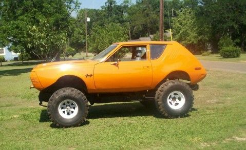 74 gremlin body on a 74 jeep frame with 360 motor.