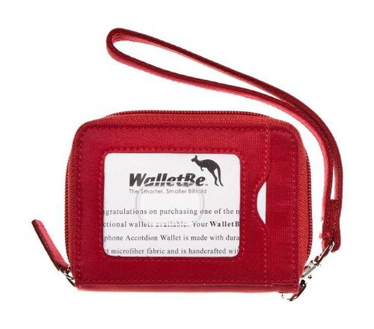 WalletBe Women's Microfiber Accordion ID Wallet