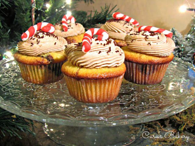 cupcakes variegati alla nutella con frosting al mascarpone