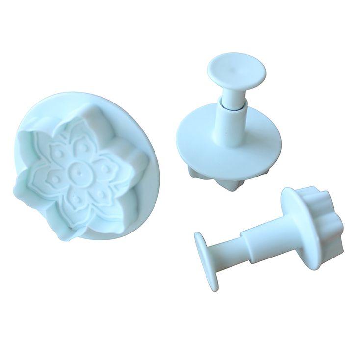 020140 Doprava zdarma 3pcs / lot šesti okvětními lístky květiny plastové dort píst fréza / cookie fréza / fondant forma / dort výzdoba nástroje na Aliexpress.com | Alibaba Group
