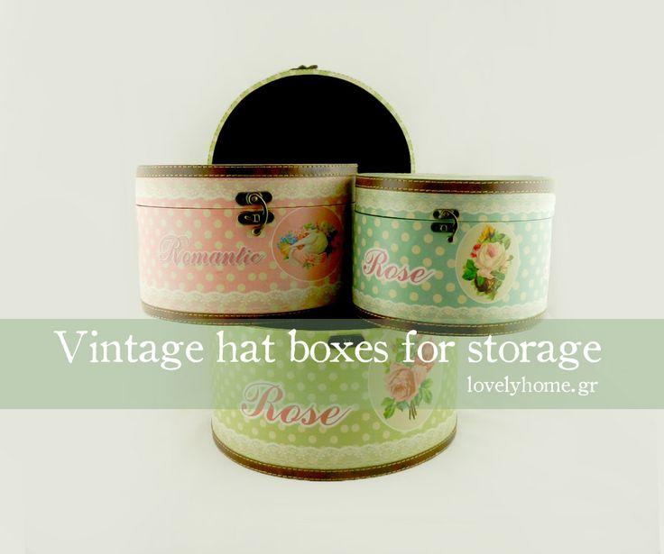 vintage αποθηκευτικά κουτιά