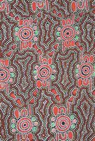 "Ausdesign Tablecloth - Bush Orange Dreaming Artist:  Paula Nelson Artwork design story enclosed with tablecloth  suitable for a large 6 seater or trestle table  Rectangle - Dinner 206cm x 107cm [81"" x 42""] Australian Made - 100% Cotton Price - $50.00 each [incl GST]"