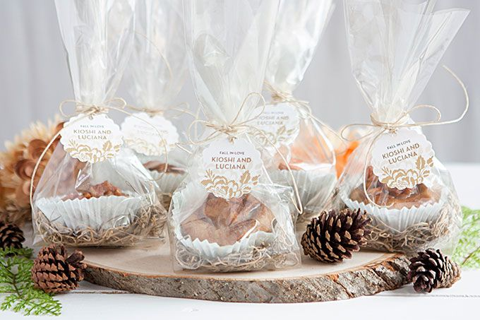 Fall Wedding Favor: Caramel Apple Cookie Cups.  Unique gift, gift idea, birthday gift, holiday gift, gift for her, gift for him